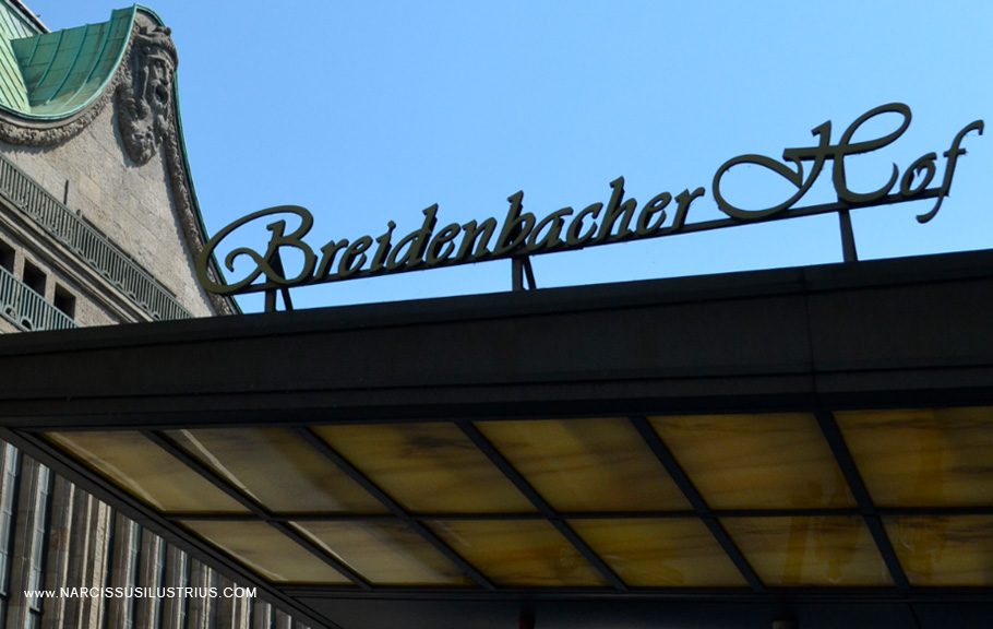 The logo wording of Breidenbacher Hof Hotel, one of Düsseldorf (and one of Germany's most luxurious and expensive hotels)
